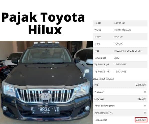 Cek Pajak Toyota Hilux