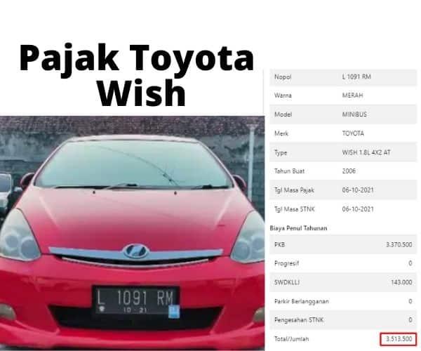 Cek Pajak Toyota Wish