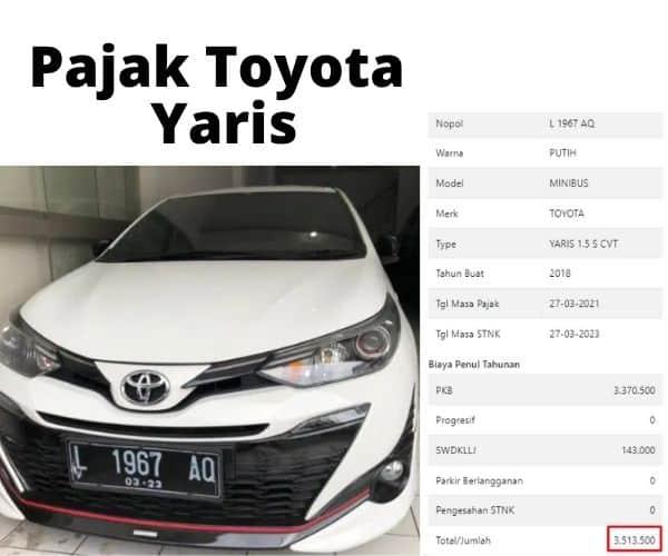 Cek Pajak Toyota Yaris